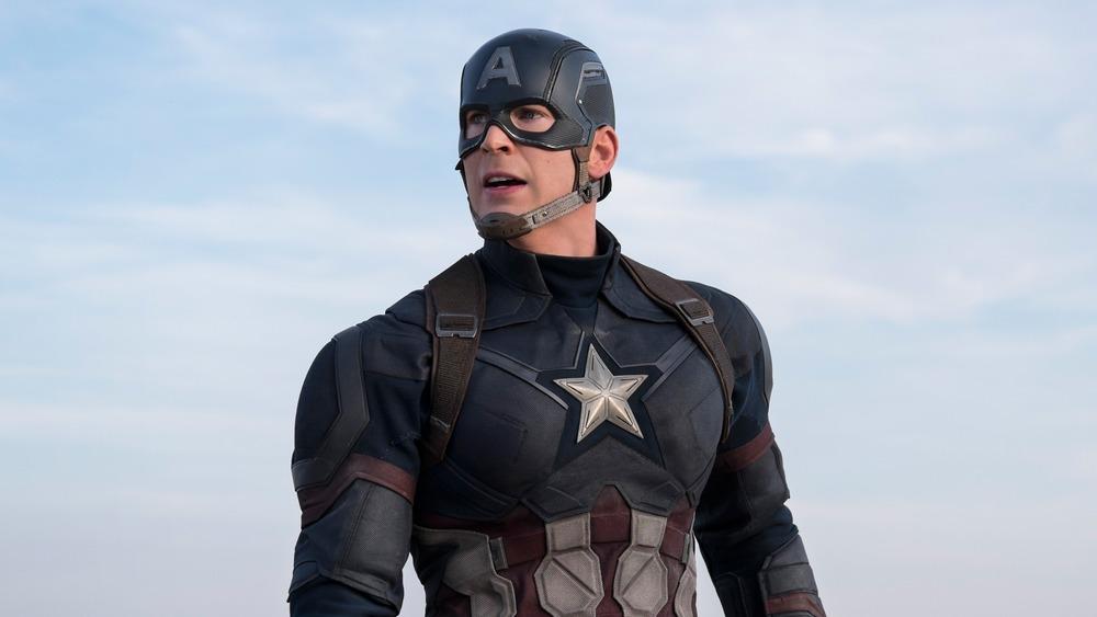 Captain America standing proud