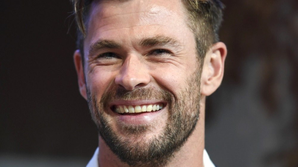 Chris Hemsworth smiling