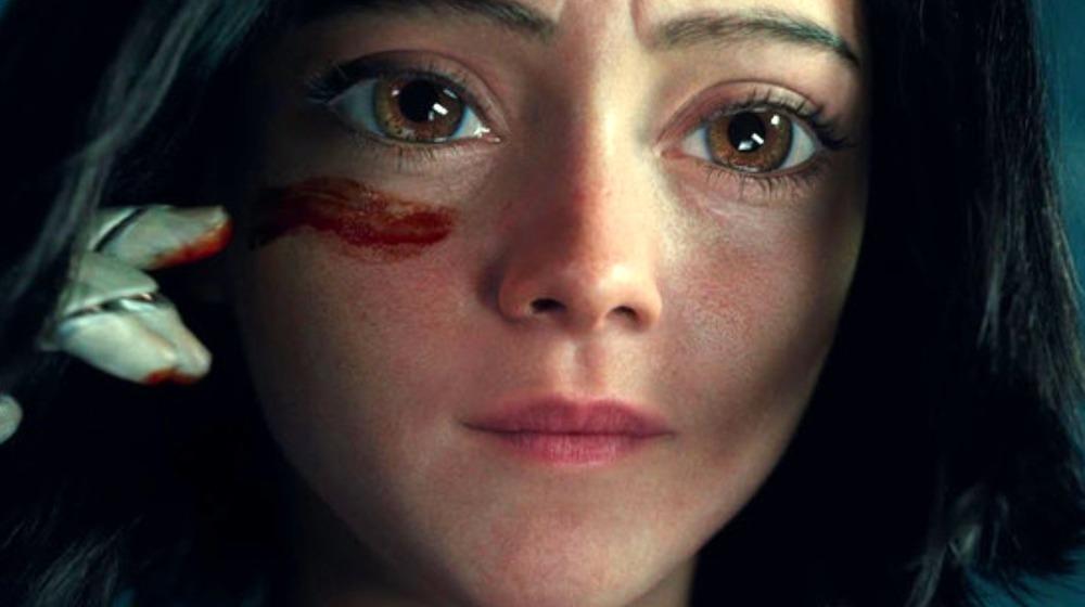 Alita with blood streak