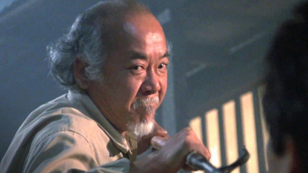 Pat Morita as Mr. Miyagi in The Karate Kid Part II