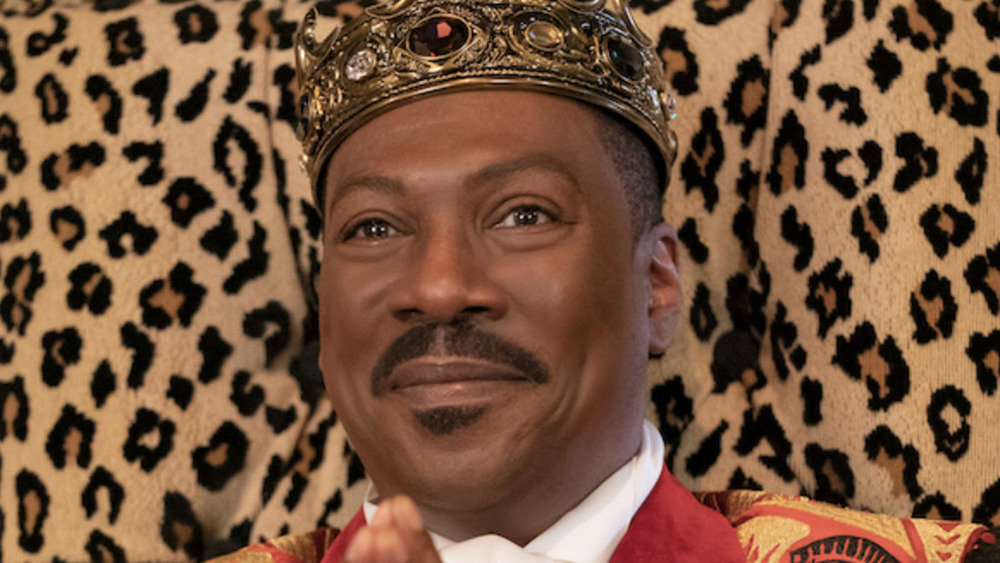 Prince Akeem sits on throne