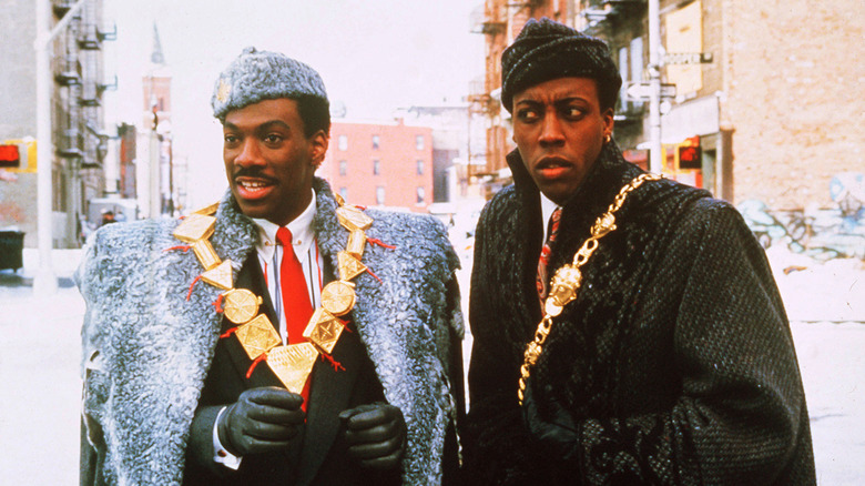 Eddie Murphy and Arsenion Hall in Coming To America