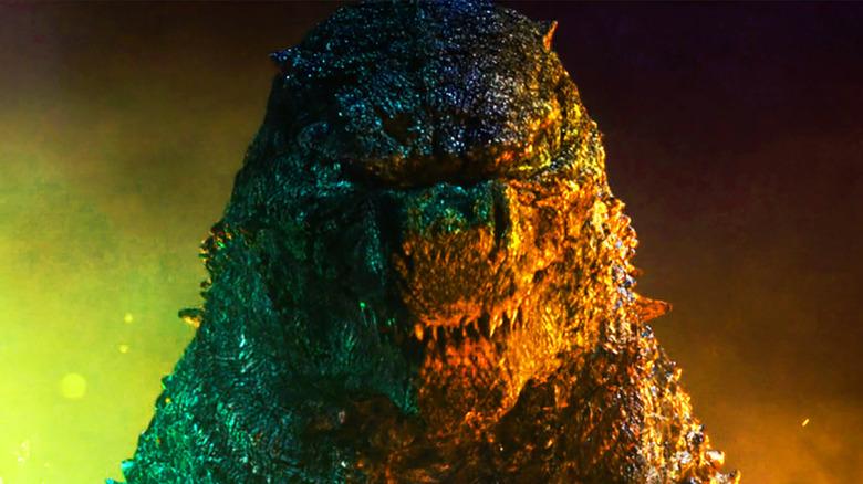 Godzilla leers at Kong