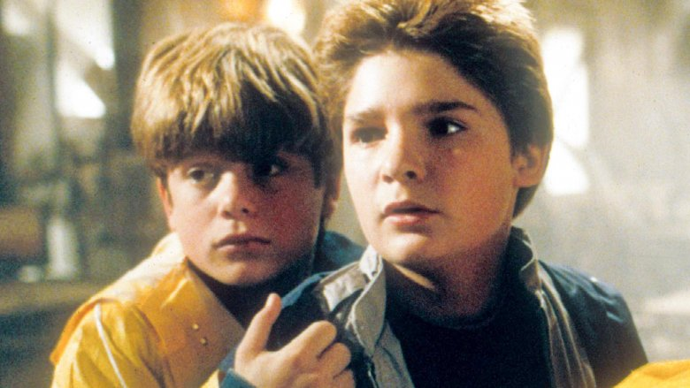 Sean Astin and Corey Feldman in The Goonies
