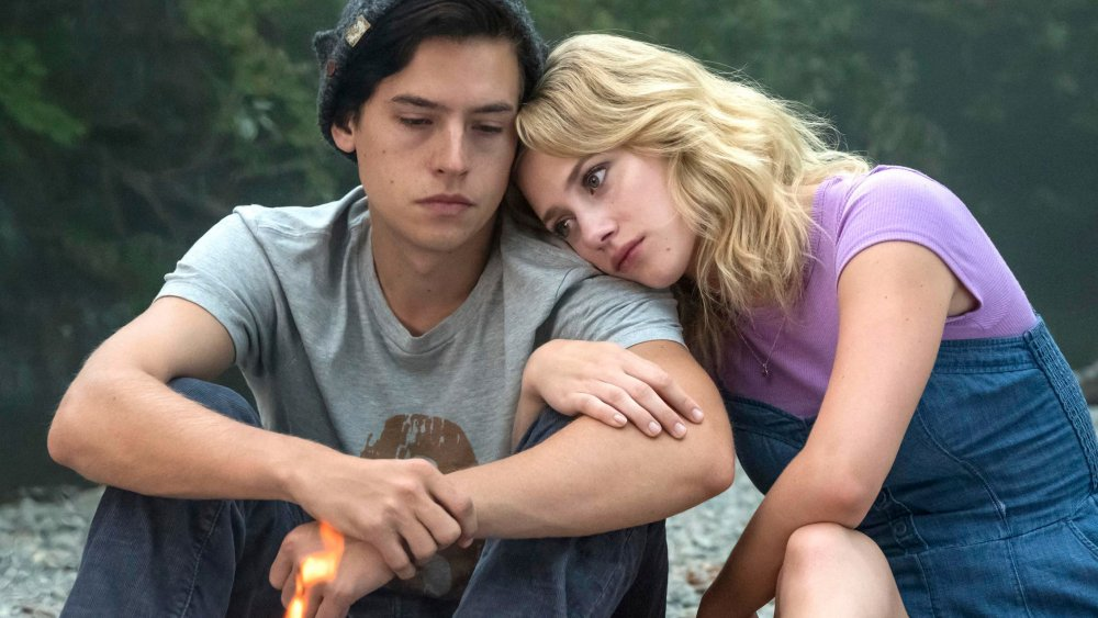 Cole Sprouse and Lili Reinhart as Jughead and Betty on Riverdale