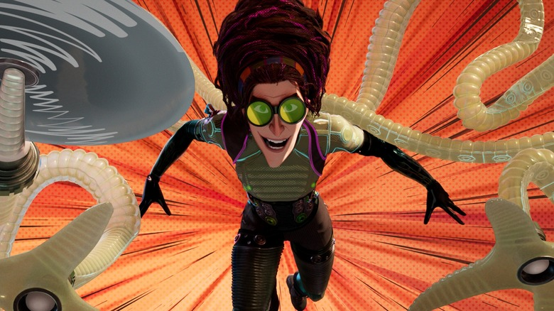 Doc Ock lashes out with all her limbs