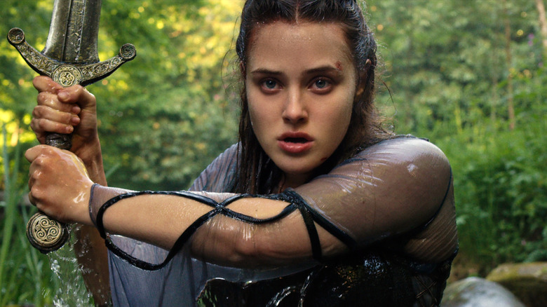Katherine Langford as Nimue on Cursed