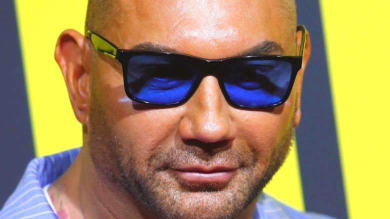 Dave Bautista blue glasses