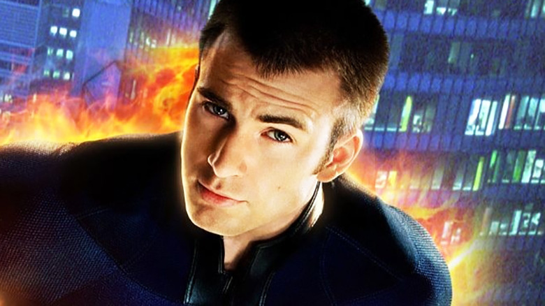 Chris Evans as Human Torch in Fantastic Four