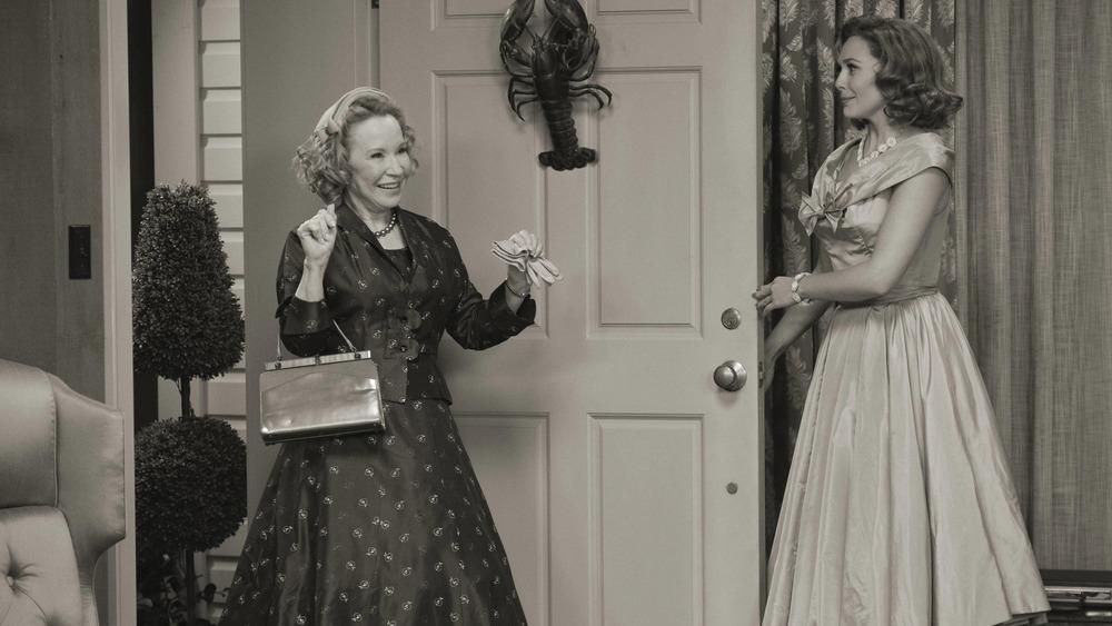 Mrs. Hart greets Wanda on WandaVision
