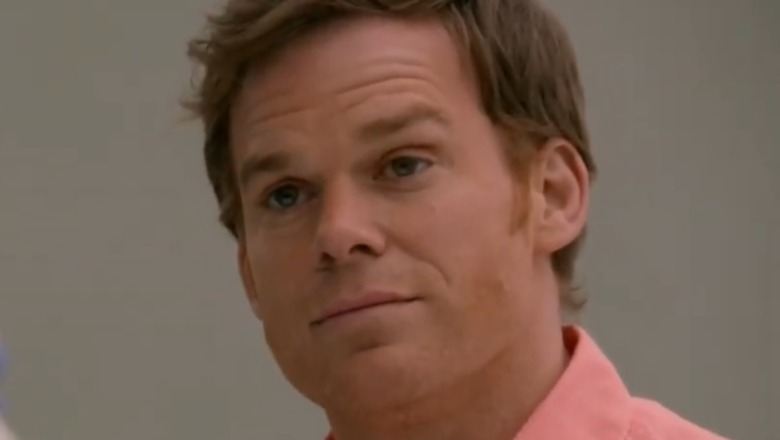 Dexter with pink shirt