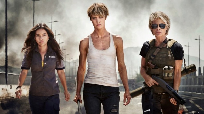 the cast of Terminator: Dark Fate