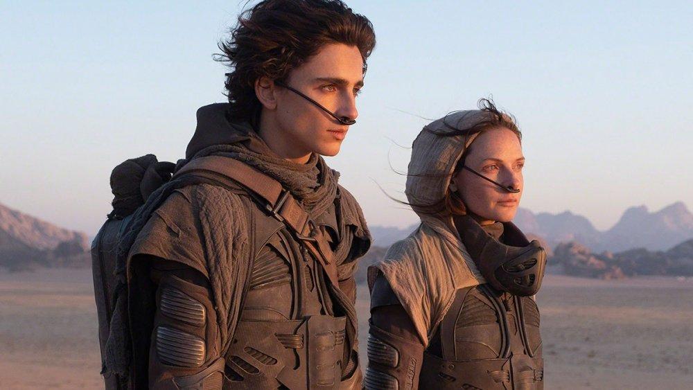 Timothée Chalamet and Rebecca Ferguson in Dune