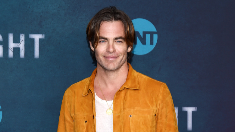 Actor Chris Pine on a red carpet