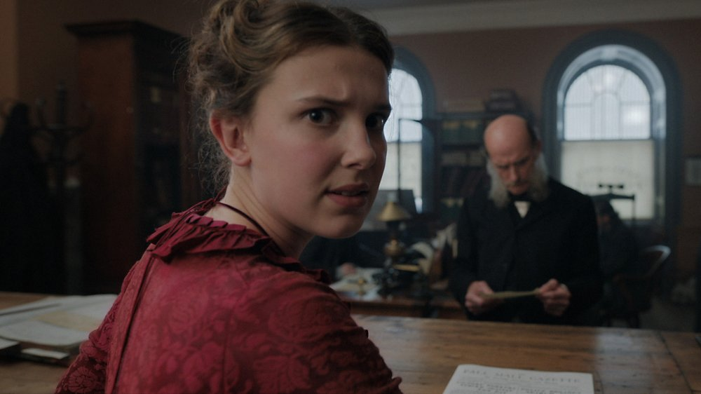 Millie Bobby Brown as Enola Holmes in Netflix's Enola Holmes