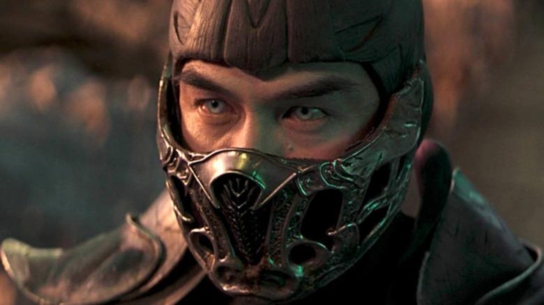 Mortal Kombat's Scorpion glares