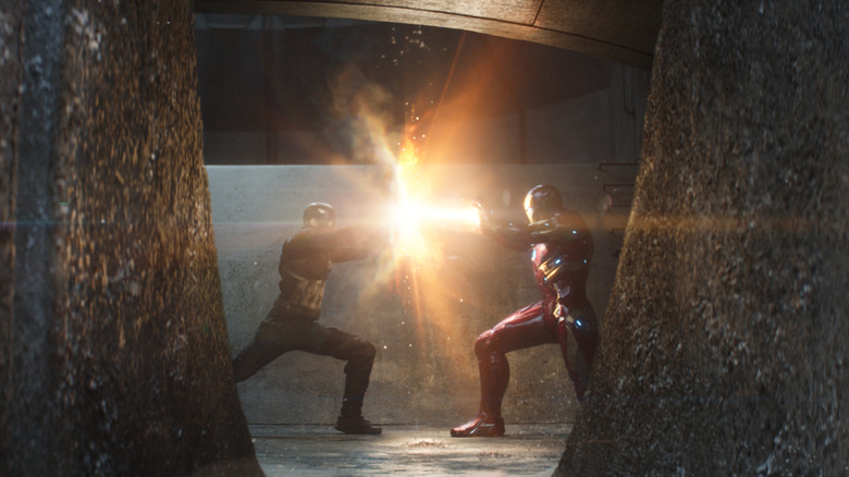 Cap and Stark duking it out