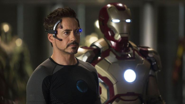 Tony Stark and his Iron Man armor