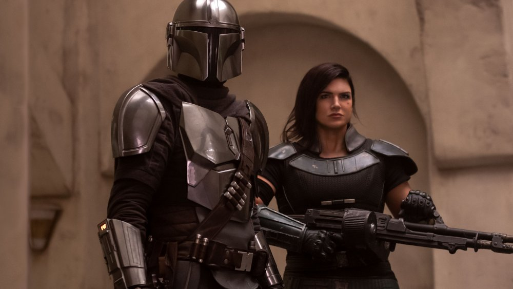 Mando and Cara Dune on season 1 of the Mandalorian