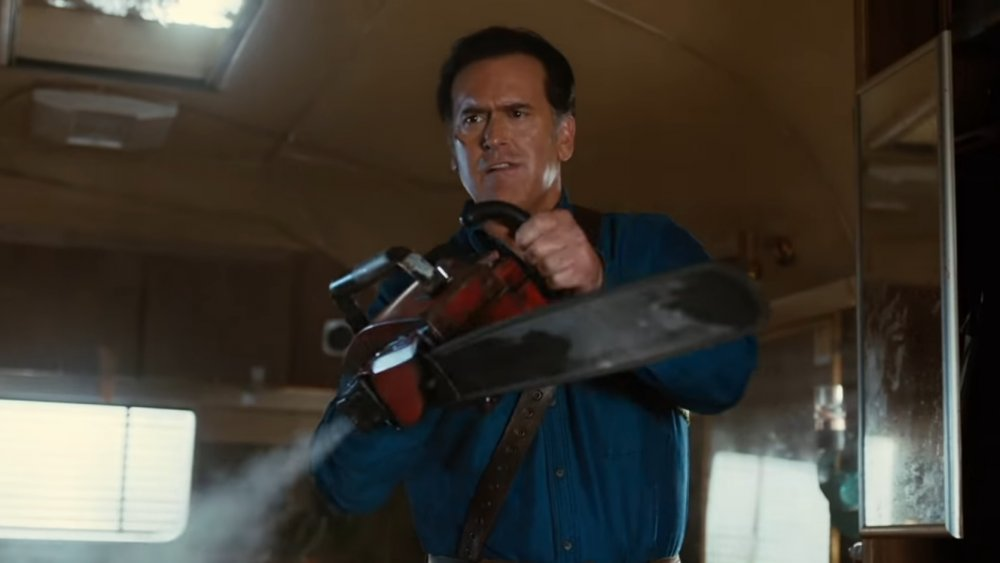 Bruce Campbell as Ash on Ash vs Evil Dead