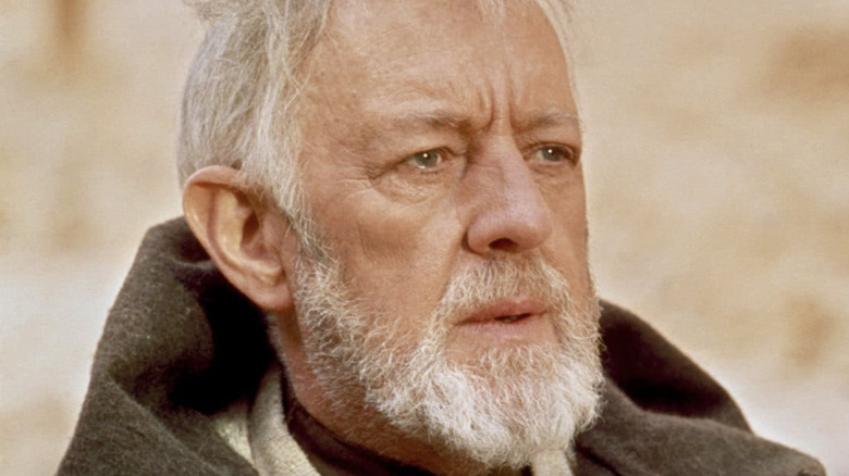 Obi Wan Alec Guinness hood down