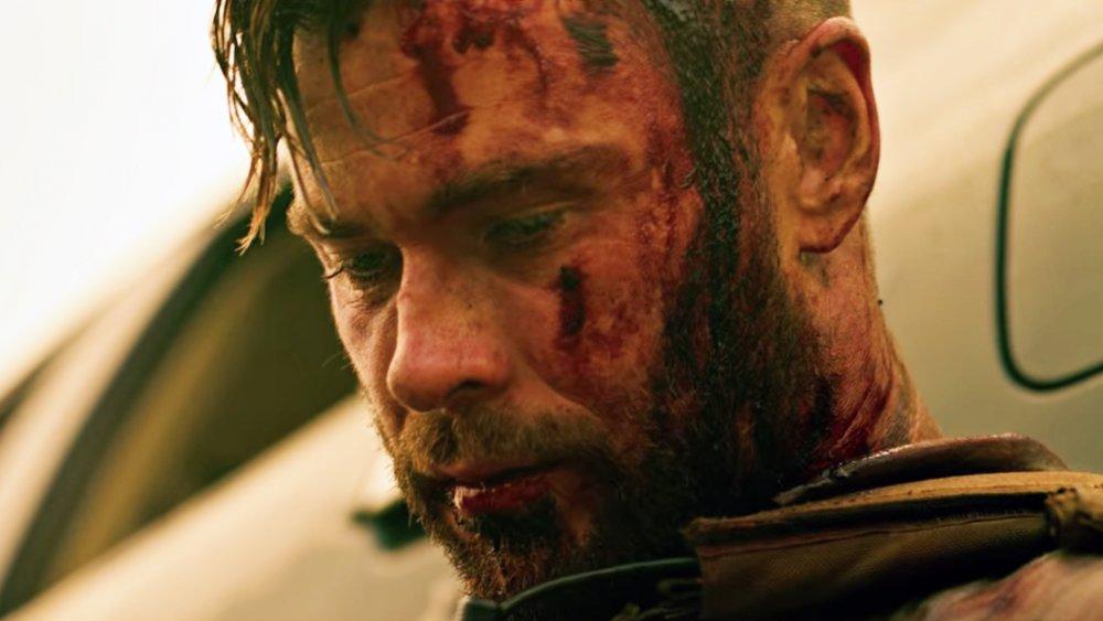 Chris Hemsworth as Tyler Rake in Extraction