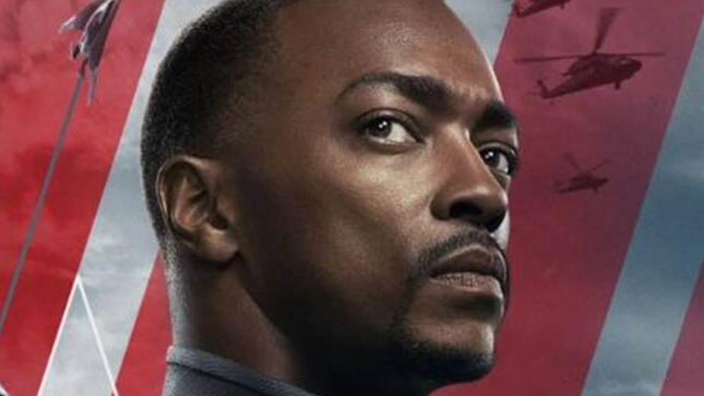 Anthony Mackie in The Falcon and the Winter Soldier promo art