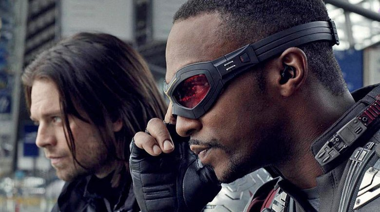 Anthony Mackie as Falcon and Sebastian Stan as the Winter Soldier