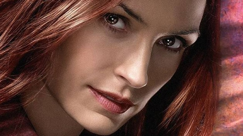 Famke Janssen in close up for X-Men: The Last Stand promo art