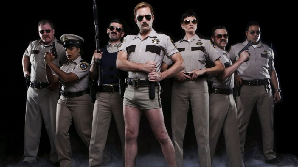 Promo photo of the cast of Comedy Central's Reno 911!