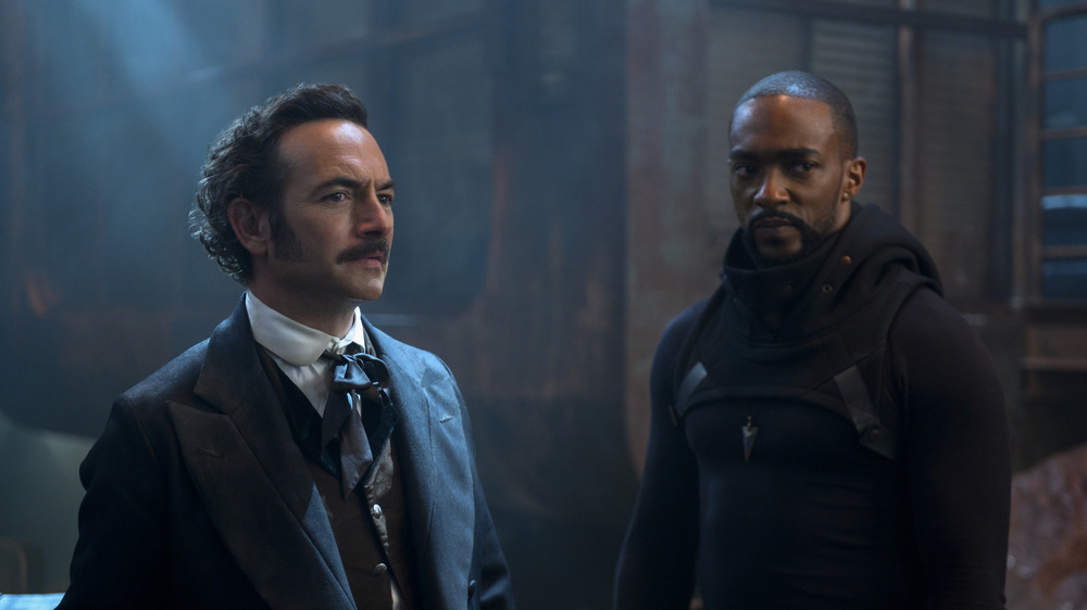 Poe and Takeshi Kovacs looking serious