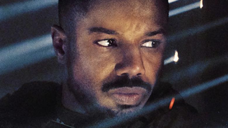 Michael B Jordan in close-up