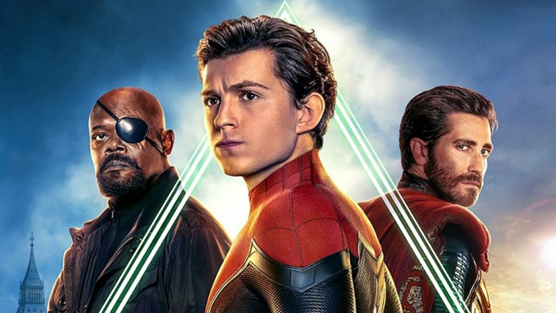 Spider-Man Far From Home poster Nick Fury Peter Parker Mysterio