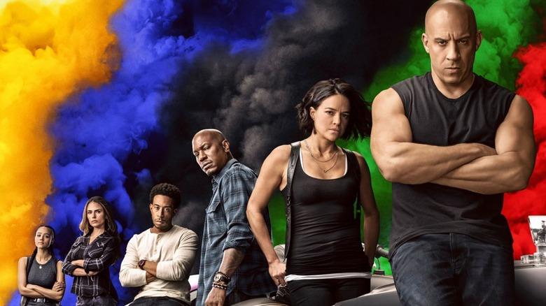 Vin Diesel, Michelle Rodriguez, Tyrese Gibson, Ludacris, Jordana Brewster, Nathalie Emmanuel in Universal's F9
