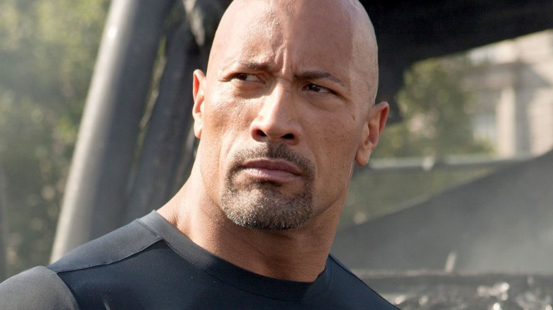 "Dwayne ""The Rock"" Johnson as Luke Hobbs in Fast and Furious"