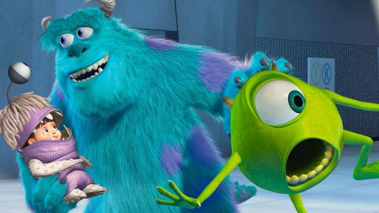 "Mike Wazowski and James P. ""Sulley"" Sullivan​ from Monsters, Inc."