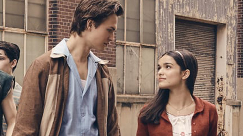 Ansel Elgort and Rachel Zegler as Tony and Maria in Steven Spielberg's West Side Story remake