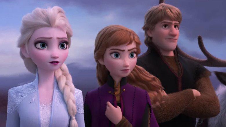 Elsa, Anna, and Kristoff in Frozen 2