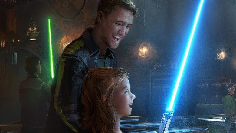 Star Wars: Galaxy's Edge Disney Savi's Lightsabers concept art