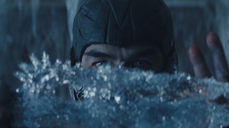 Joe Taslim as Sub-Zero casts ice in the air
