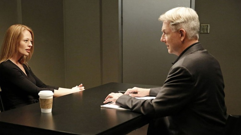 Gibbs and his ex-wife Rebecca on 'NCIS'