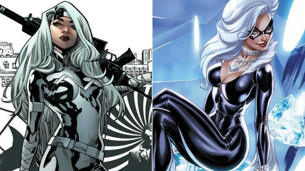 Silver Sable and the Wild Pack (2017) #36 cover, Black Cat (2019) #8 cover