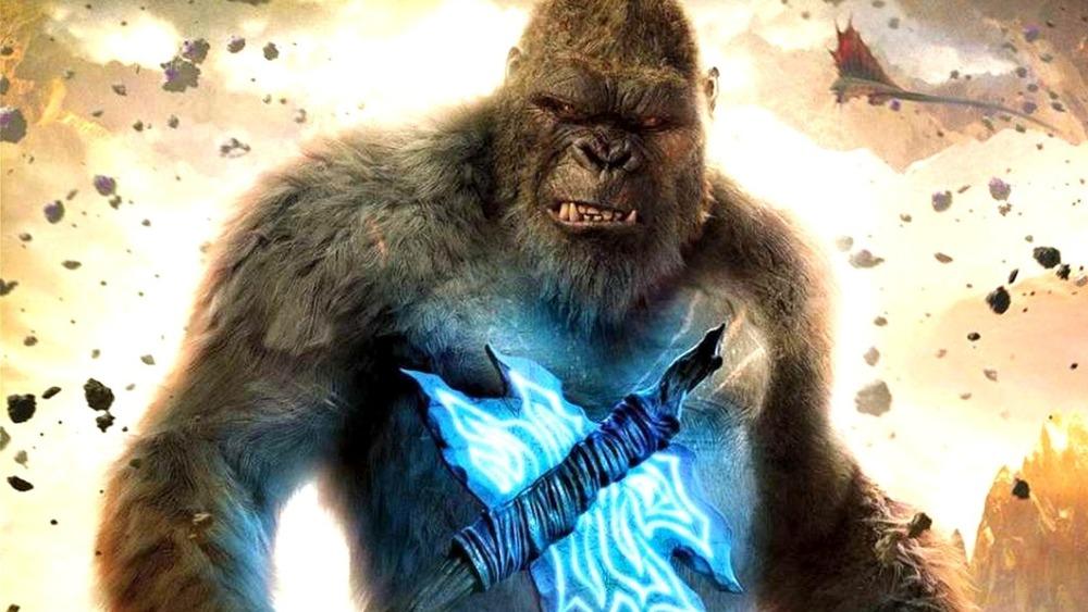 King Kong holding his axe in Godzilla vs. Kong