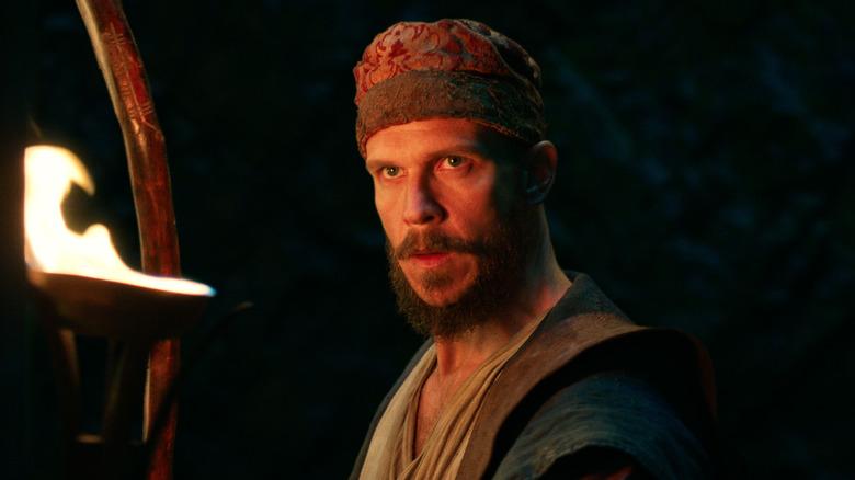 Gustaf Skarsgård as Merlin on Cursed