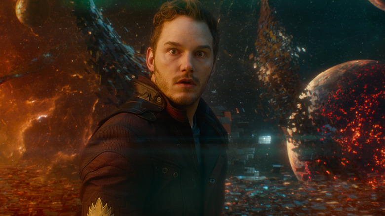 Chris Pratt as Peter Quill in Guardians of the Galaxy Vol. 1