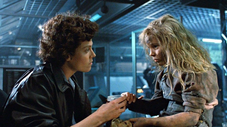 Ripley and Newt in Aliens