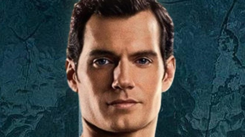 Henry Cavill in Justice League as Superman (no mustache)