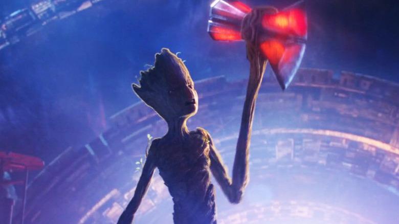 Groot with Strormbreaker
