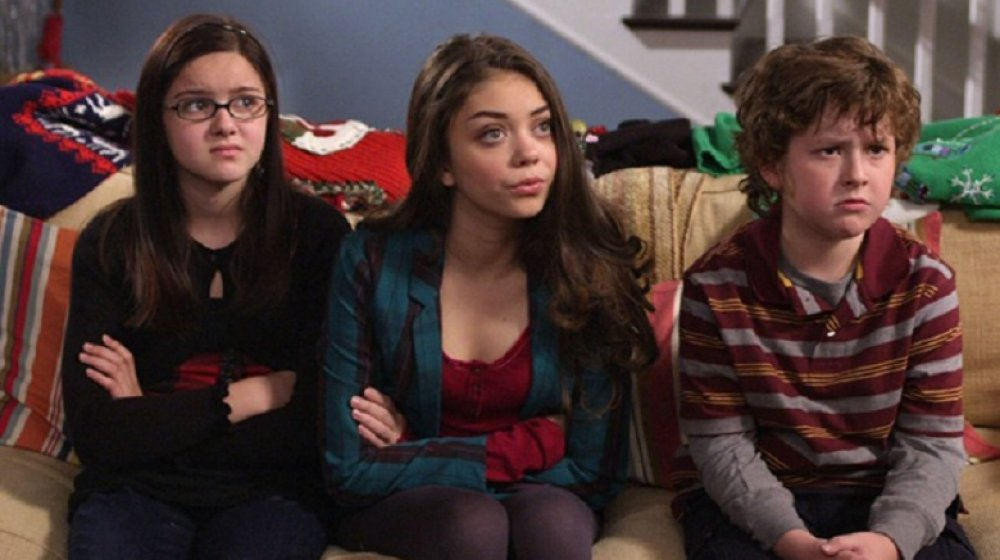 Actors Sarah Hyland, Nolan Gould, and Ariel Winter on Modern Family