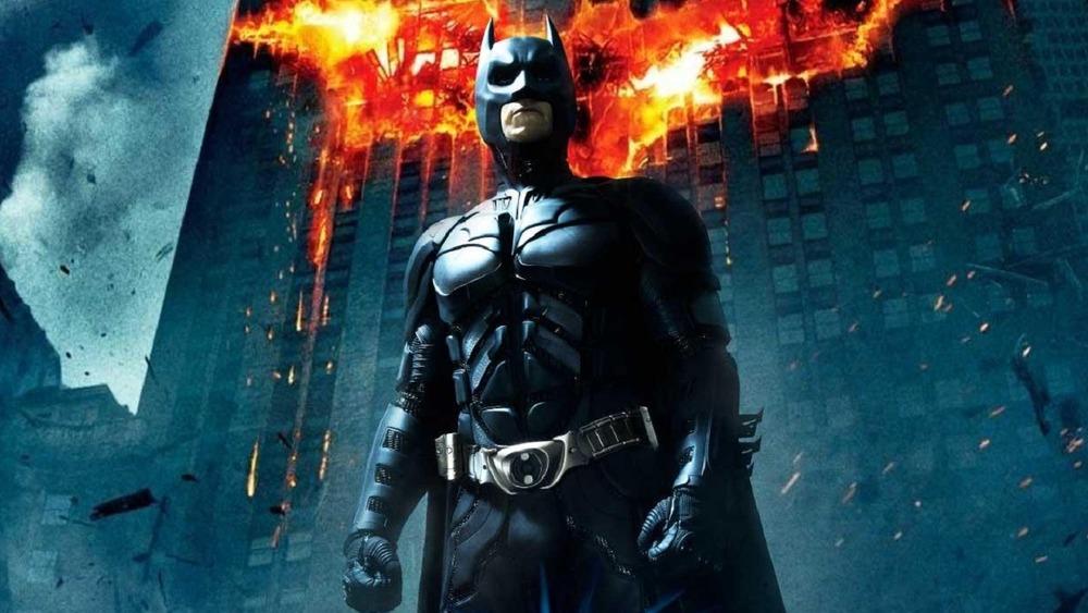 Batman on The Dark Knight poster